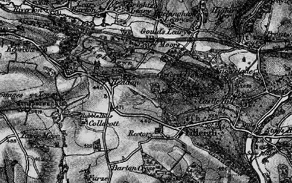 Old map of Leary Moors in 1898