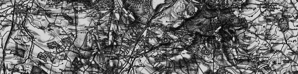 Old map of Hednesford in 1898