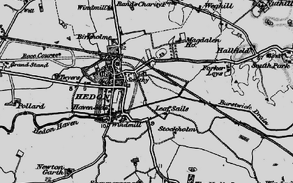 Old map of Wranglands in 1895