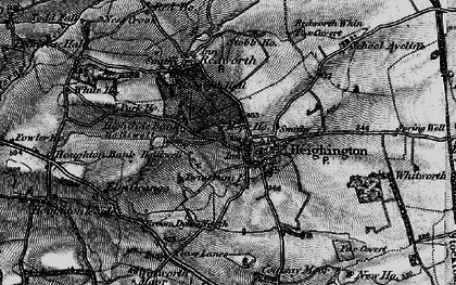 Old map of Heighington in 1897