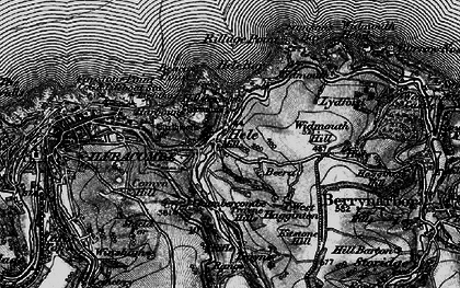 Old map of Hele in 1898