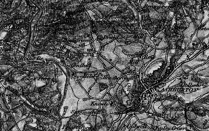 Old map of Ausewell Rocks in 1898
