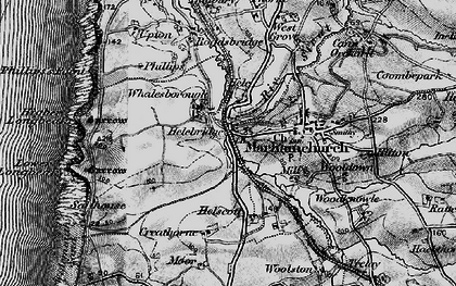 Old map of Helebridge in 1896