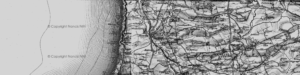 Old map of Whalesborough in 1896