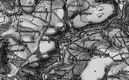 Old map of Hellandbridge in 1895