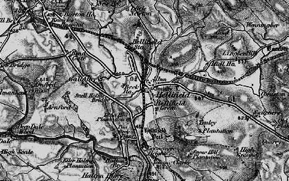 Old map of Hellifield in 1898