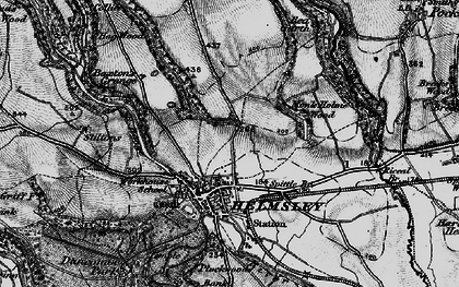 Old map of Helmsley in 1898