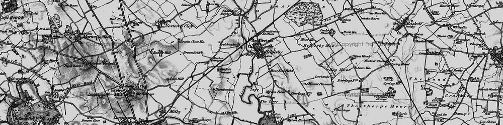 Old map of Helperby in 1898