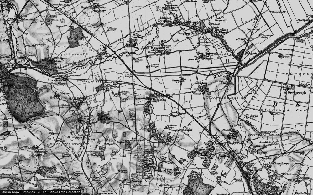 Old Map of Historic Map covering Woodcroft Castle in 1898