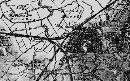 Old map of Helsby in 1896