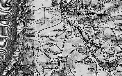 Old map of Helscott in 1896
