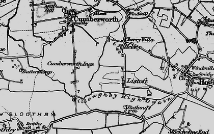 Old map of Willoughby High Drain in 1898