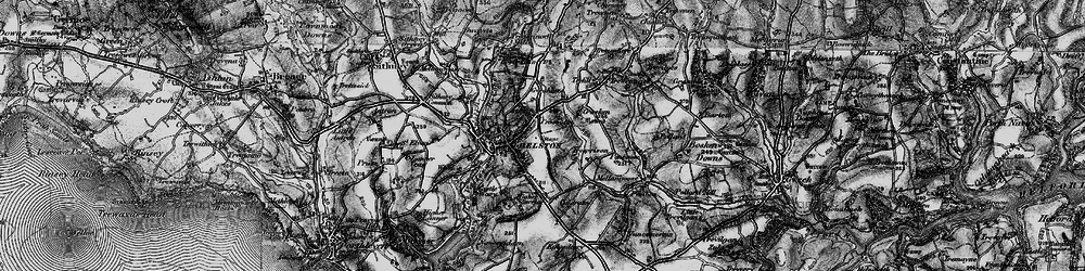 Old map of Helston in 1895