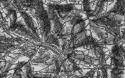 Old map of Helston Water in 1895