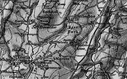 Old map of Helstone in 1895