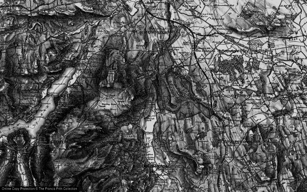 Old Map of Historic Map covering Askham Fell in 1897