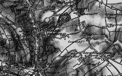 Old map of Hemel Hempstead in 1896