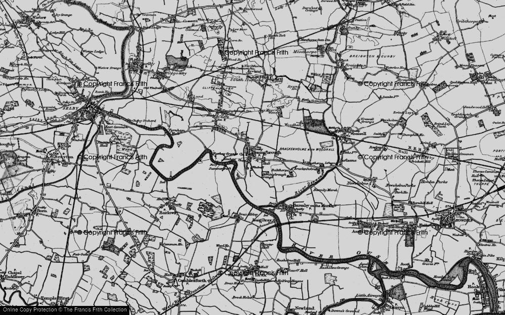 Old Map of Hemingbrough, 1895 in 1895