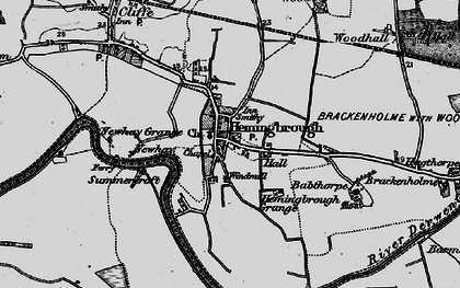 Old map of Hemingbrough in 1895