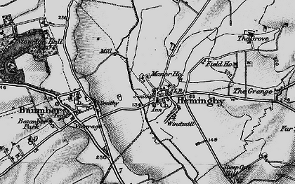 Old map of Asterby Grange in 1899