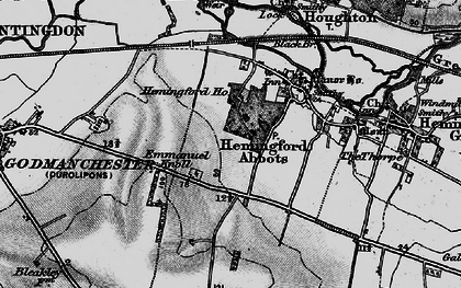 Old map of Wood Green Animal Shelter in 1898