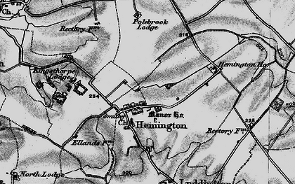 Old map of Ashton Wold in 1898