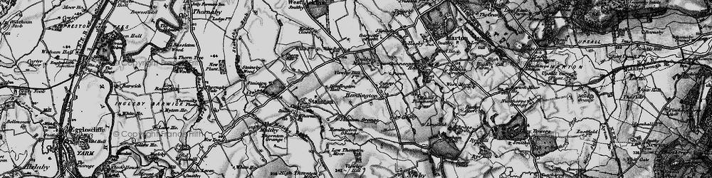 Old map of Hemlington in 1898