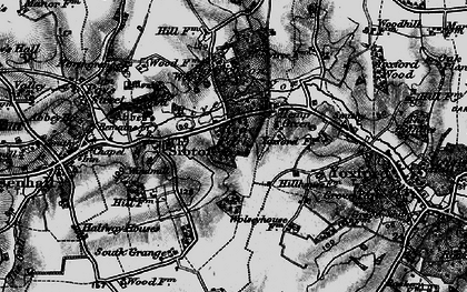 Old map of Yoxford Wood in 1898