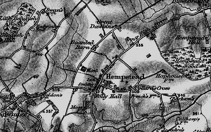 Old map of Wincelow Hall in 1895