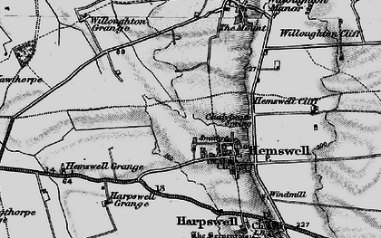 Old map of Hemswell in 1898