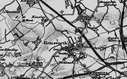 Old map of Hemsworth in 1896