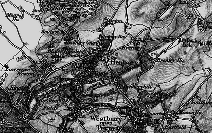 Old map of Henbury in 1898