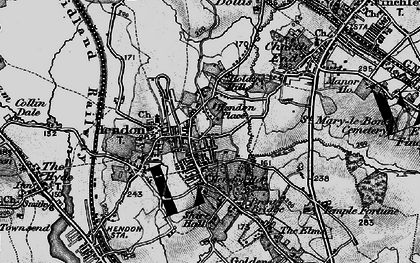 Old map of Hendon in 1896