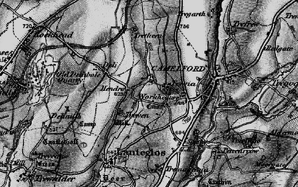 Old map of Hendra in 1895