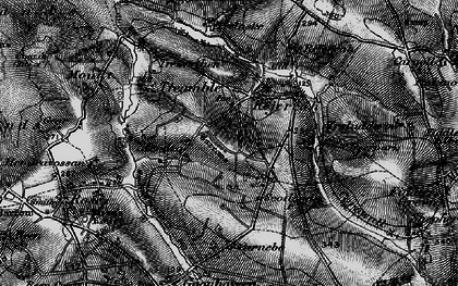 Old map of Hendra Croft in 1895