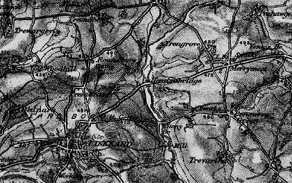 Old map of Hendrabridge in 1896