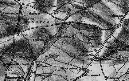 Old map of Hendraburnick in 1895