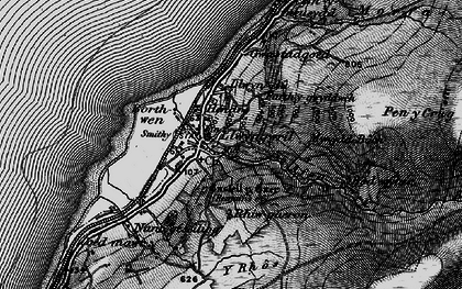 Old map of Afon Gwril in 1899