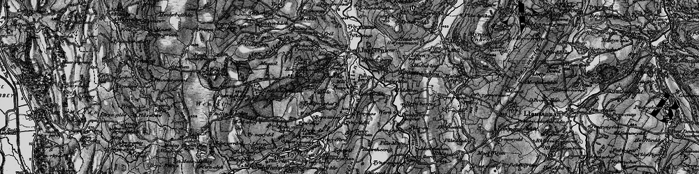 Old map of Afon Gallen in 1899