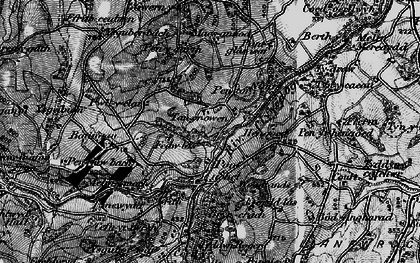 Old map of Hengoed in 1897