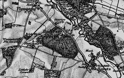 Old map of Hengrave in 1898