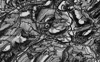 Old map of Afon Banwy neu Einion in 1897