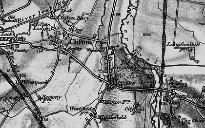 Old map of Henlow in 1896
