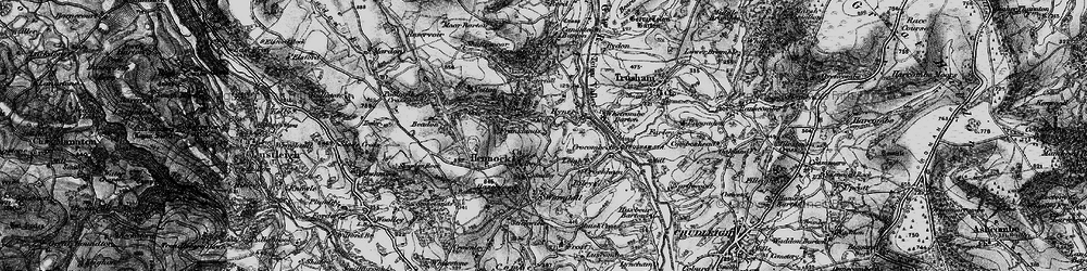 Old map of Whetcombe Barton in 1898