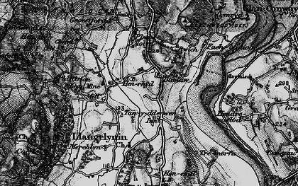 Old map of Afon Conwy in 1899