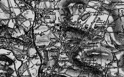 Old map of Yeadon Tarn in 1898