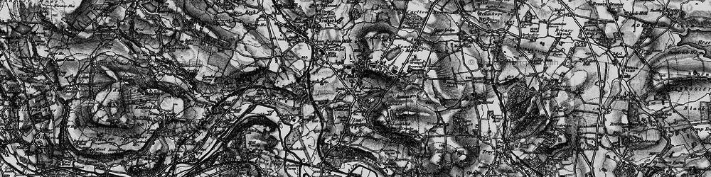 Old map of Yeadon Moor in 1898