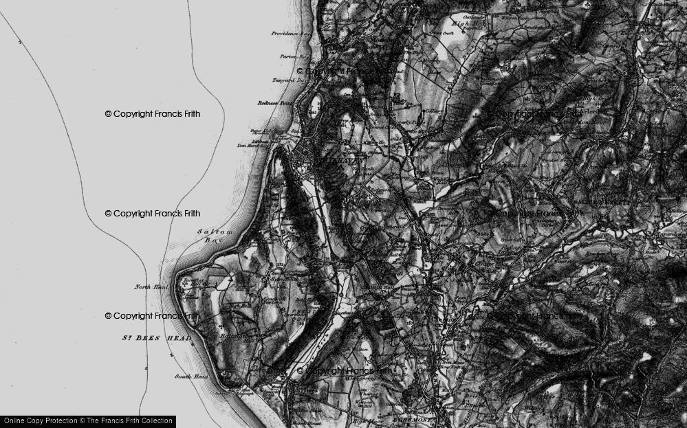 Old Map of Hensingham, 1897 in 1897
