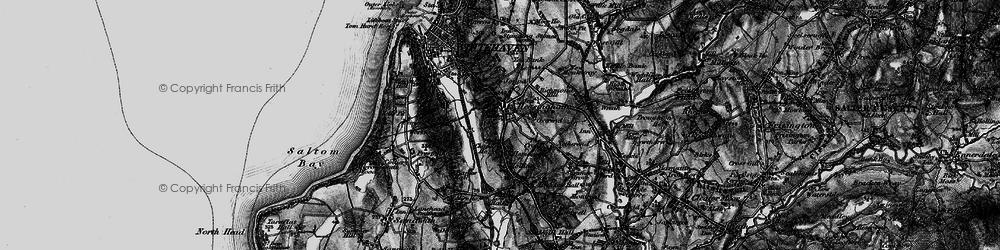 Old map of Hensingham in 1897