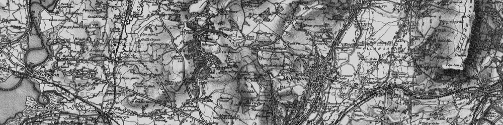 Old map of Afon Llan in 1897